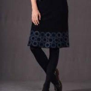 Boden Cord Starburst Hem Corduroy Embroidere Skirt